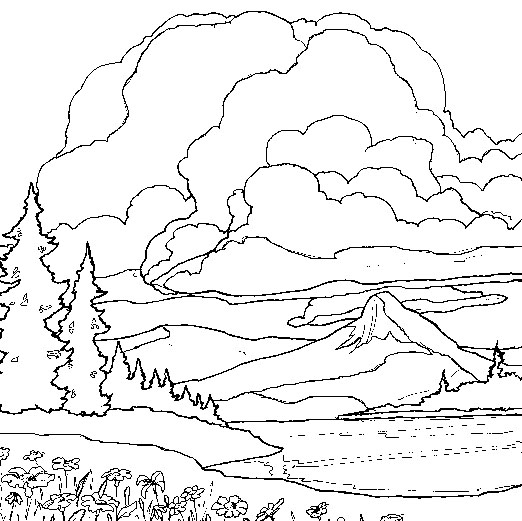 Free Coloring Pages Of Natural Landscape